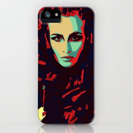 Red head popart illustration prettyface model fashion iPhone Case