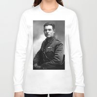 hemingway Long Sleeve T-shirts featuring Ernest Hemingway in Uniform, 1918 by Limitless Design