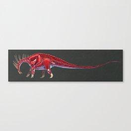 Amargasaurus Muscle Study (No Labels) Canvas Print