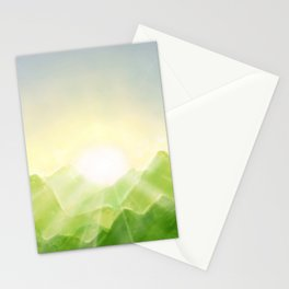 Mountains of Green Stationery Cards