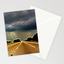Florida highway rainstorm - grainy photography - moody art - Florida poster Stationery Cards