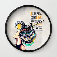 seinfeld Wall Clocks featuring Quote - Jerry Seinfeld by Katie Melrose