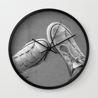 the perks of being a wallflower Wall Clocks featuring Wallflower by PopPopPhotography