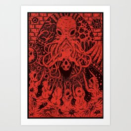 Cthulhu Bride Art Print