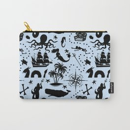 High Seas Adventure // Light Blue Carry-All Pouch