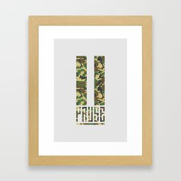 PAUSE – Camo Framed Art Print