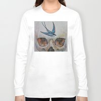 sparrow Long Sleeve T-shirts featuring Sparrow by Michael Creese