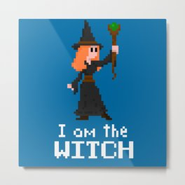 I am the Witch Metal Print