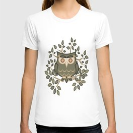 The Wise Old Owl .. fantasy bird T-shirt