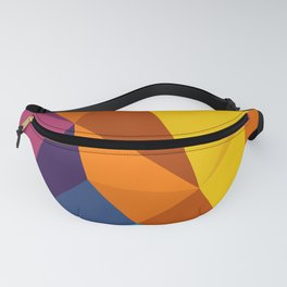 abstract seamless floral pattern exotic shapes Fanny Pack