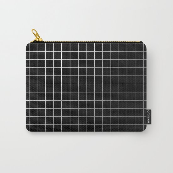 Metal Cage - Industrial, metallic grid pattern Carry-All Pouch