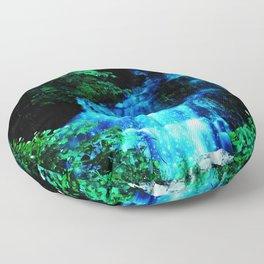 Enchanted waterfall. Floor Pillow