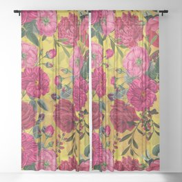 Vintage & Shabby Chic - Summer Tropical Garden Sheer Curtain