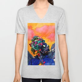 Crazy man in the mountains Unisex V-Neck