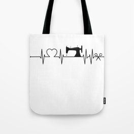 Sewing Heartbeat Tote Bag