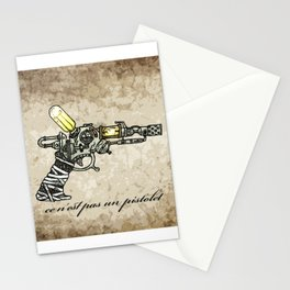 Raygun this is not a pipe Stationery Cards