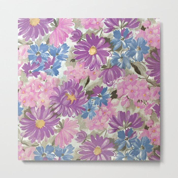 Floral pastel pattern Metal Print