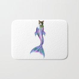 Cat Fish Purrmaid Pun Bath Mat