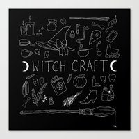 witchcraft Canvas Prints featuring witchcraft by missusruin