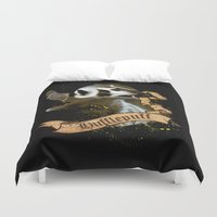 hufflepuff Duvet Covers featuring Hufflepuff by Markusian