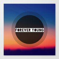forever young Canvas Prints featuring Forever Young by Josrick