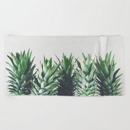 Pineapple Leaves Beach Towel
