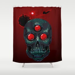 Horror From Beyond Time and Spaaaaaaace! Shower Curtain