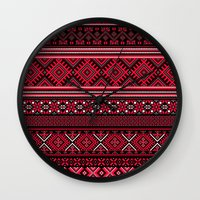 "greek Wall Clocks featuring GREEK pattern by ""CVogiatzi."
