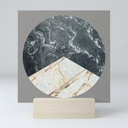 Water Meets Marble Mini Art Print