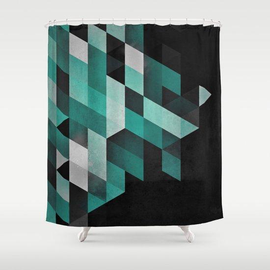 dryma mynt Shower Curtain