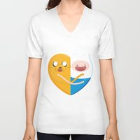 best friends V-neck T-shirts featuring Best friends  by Manfred Maroto