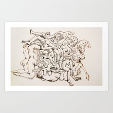 Orgy Art Print