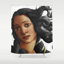 Botticelli African American Venus Shower Curtain