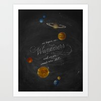 carl sagan Art Prints featuring Wanderers - Carl Sagan by Casey Ligon
