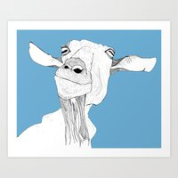 goat Art Prints featuring Goat by caseysplace