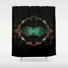 Fractal Art - Space Totem Shower Curtain