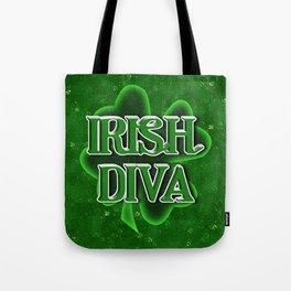 Irish Diva - St Patrick's Day Shamrock Tote Bag