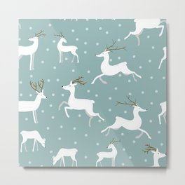 Christmas Deer Metal Print