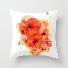 Tall poppies Throw Pillow