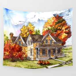 October on the Farm Wall Tapestry