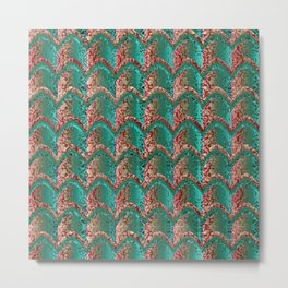 Abstract Textured Pattern Metal Print