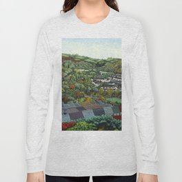 Pontypridd (featuring Sardis Road Rugby Ground) Long Sleeve T-shirt