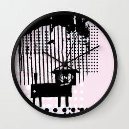 ODD MIKEY Stuff - Black'n'pink Wall Clock