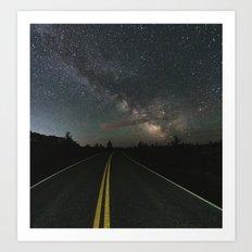 Galactic Road Trip Art Print