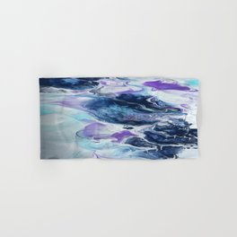Navy Blue, Teal and Royal Purple Marble Hand & Bath Towel