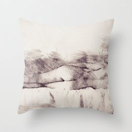 Lying on the bed. Nude studio Throw Pillow