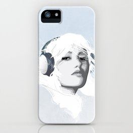 Headphone Girl v2 iPhone Case