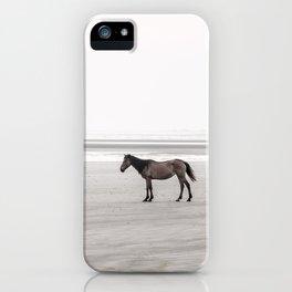 Horse a la playa iPhone Case