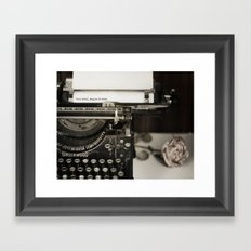 Your Story begins at Home Framed Art Print