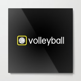 Volleyball (Yellow) Metal Print